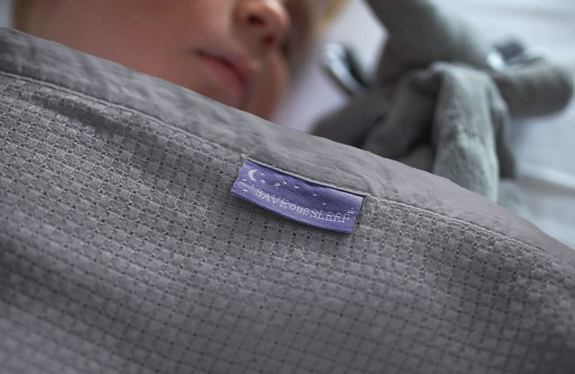 OUT OF STOCK: ETA 2022 Save Our Sleep Cot Heirloom Blanket - (*95% Organic Bamboo) - Silver