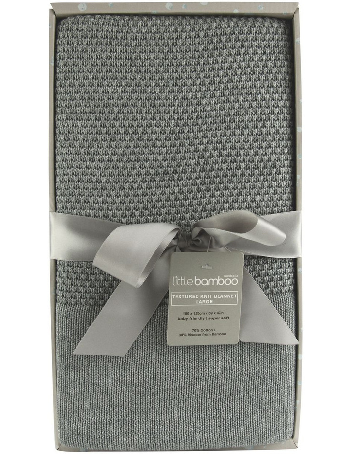 SOS VERSION:  Little Bamboo Large Textured Blanket - Marl Grey