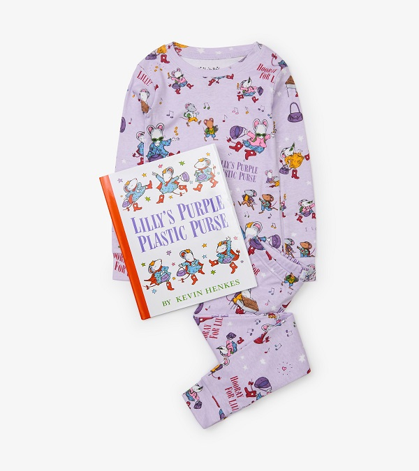 Hatley Organic Books to Bed -  Lilly's Purple Purse