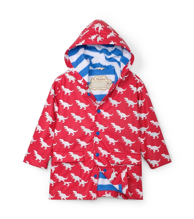 Hatley - Colour Changing Raincoat - T-Rex Silhouettes