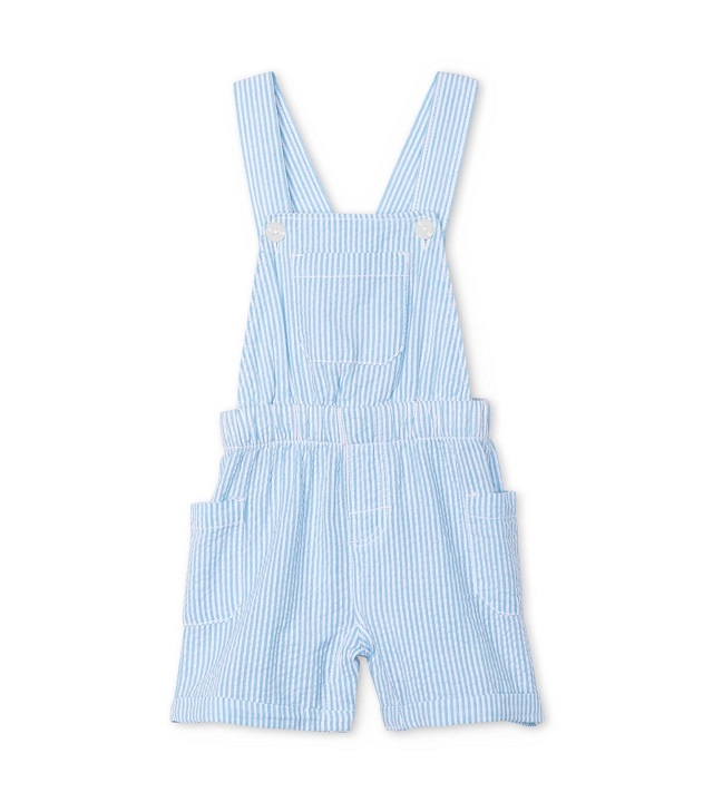 Hatley Blue Stripe Baby Shortall