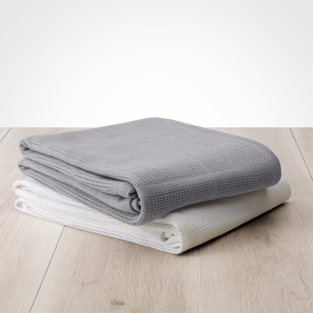 Save Our Sleep Cot Cellular Blanket Both Colours!
