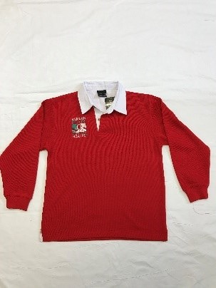 Clearance - Child Red Rugby Jumper