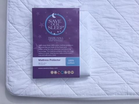 the best attitude 0b48b 10952 Save Our Sleep, 100% Cotton Mattress Protector - fits Travel ...