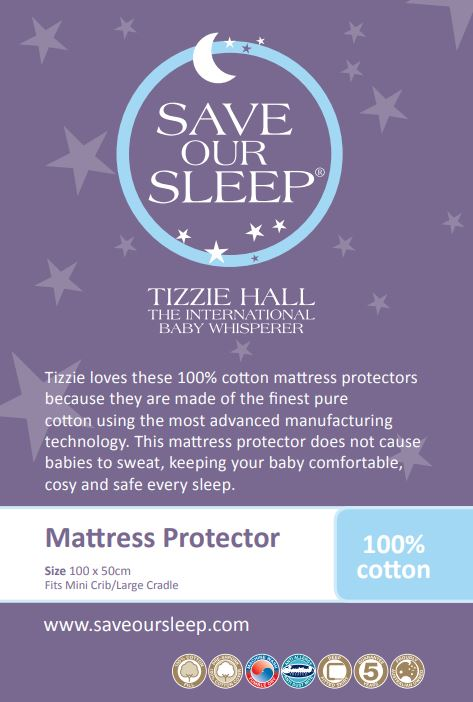Save Our Sleep, 100% Cotton Cot Mattress Protector