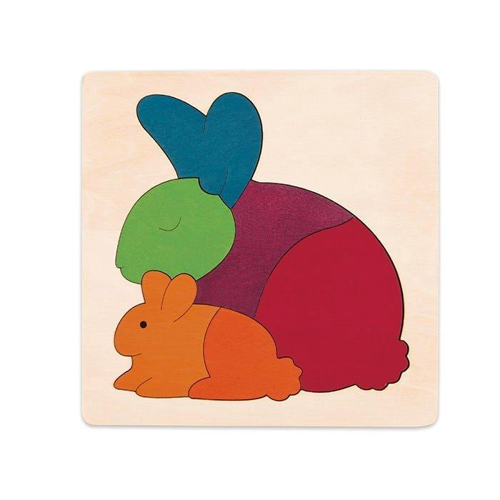 George Luck - Rainbow Rabbit - 6 piece layered puzzle