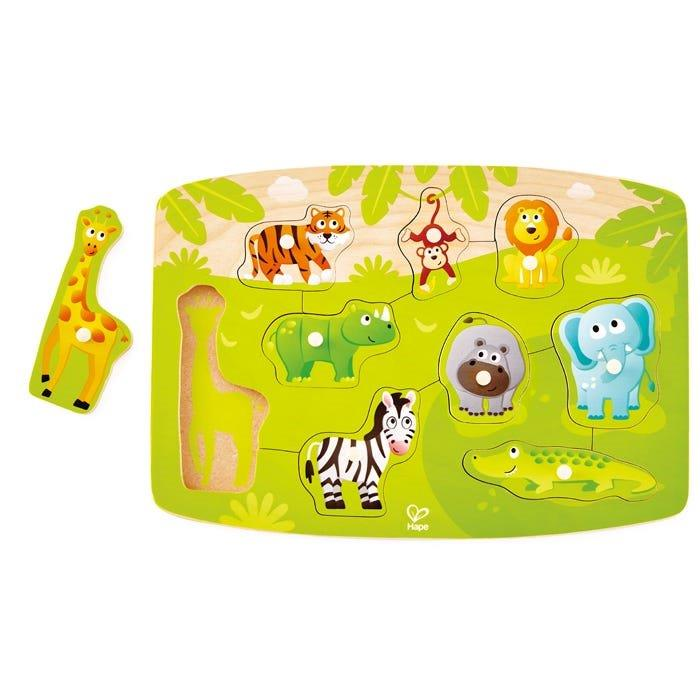 Hape - Jungle - 9 piece Peg Puzzle
