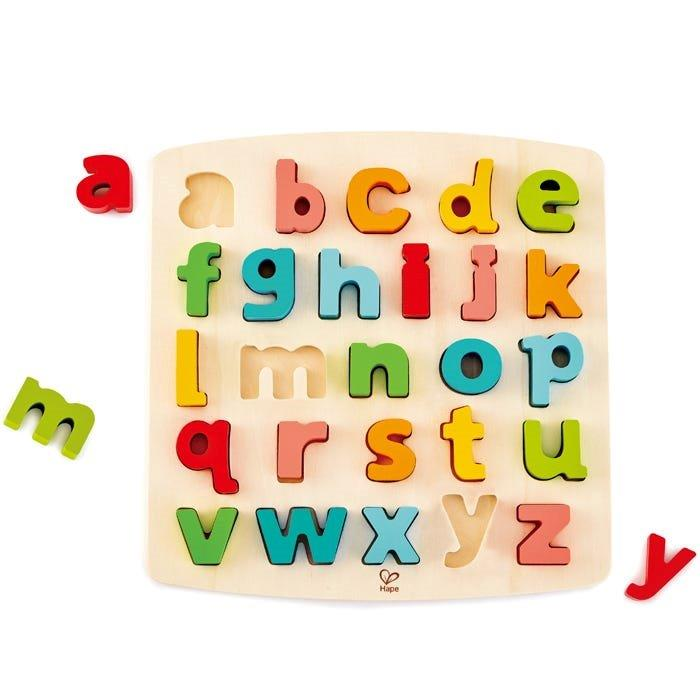 Hape - Chunky Lowercase Alphabet Puzzle - 26 pieces