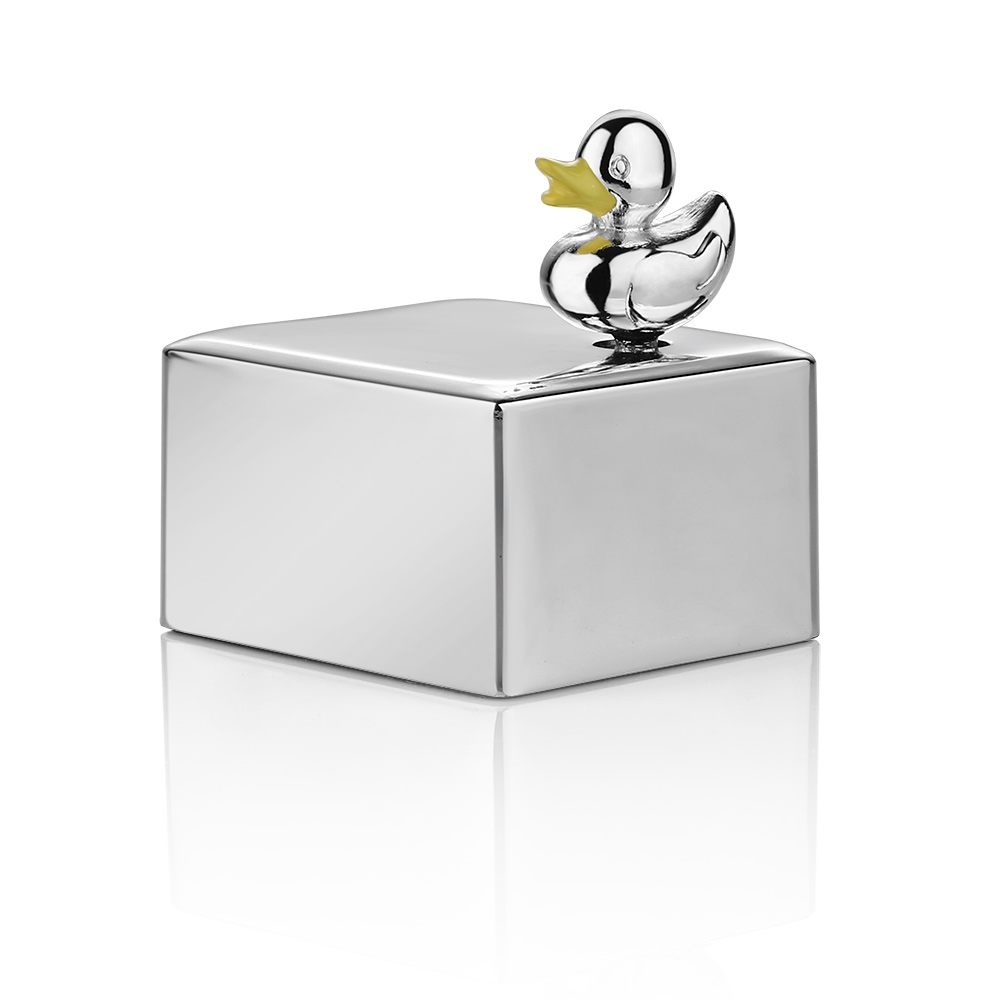 Newbridge - Silver Plated Duck Musical Box