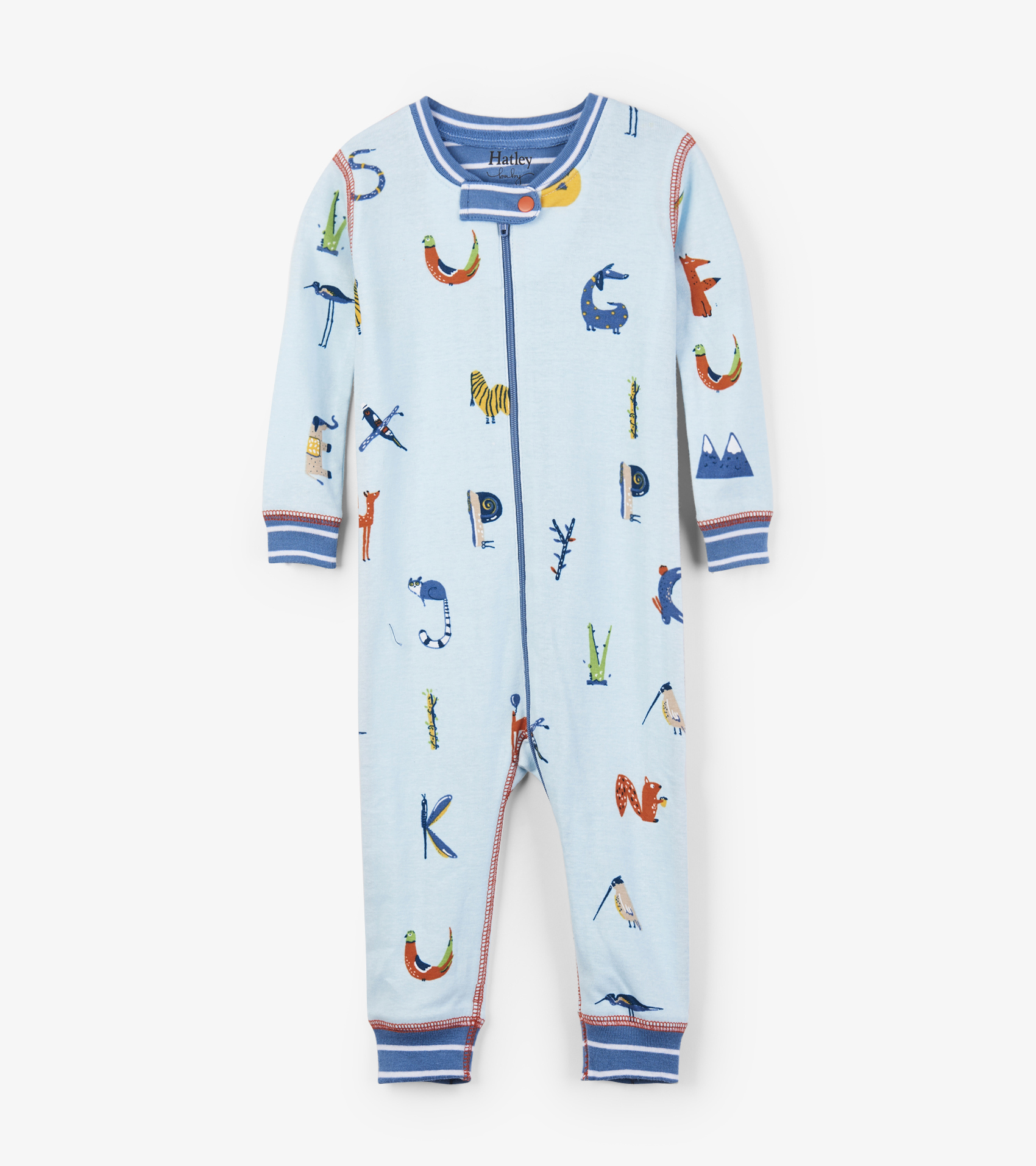 Hatley Babygro Footless - Alphabet Animals