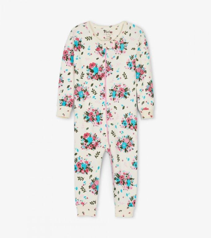 Hatley Babygro Footless - Floral Hedgehogs