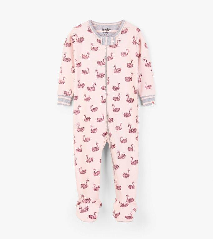 Hatley Babygro Footed - Swan Lake