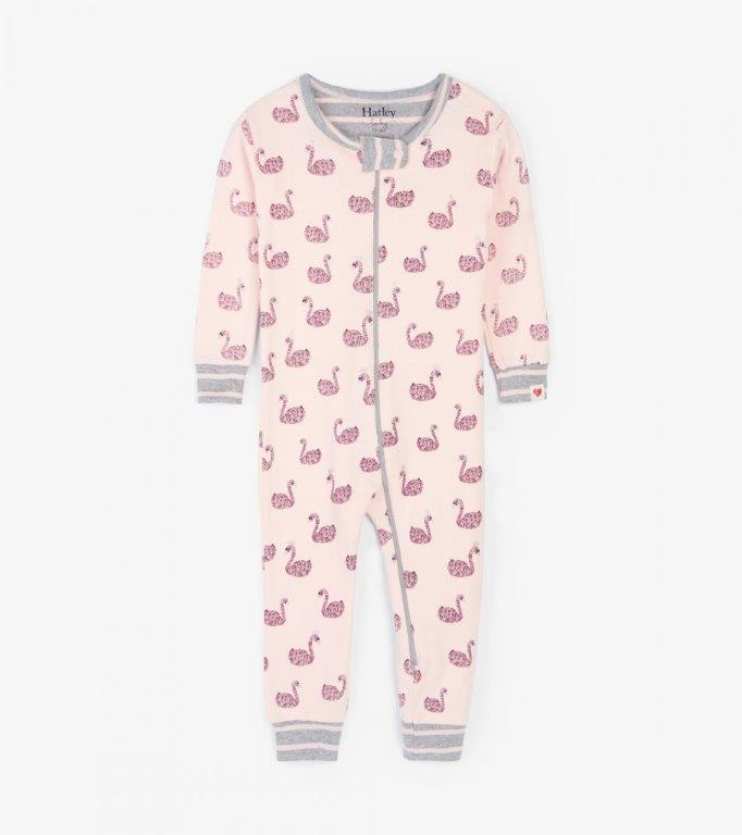Hatley Babygro Footless - Swan Lake