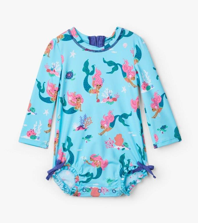 Hatley Rashguard One-Piece - Mermaid Tales