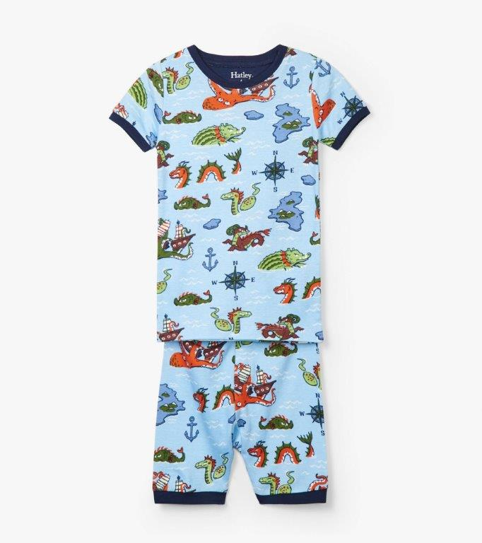 Hatley Short PJs - Sea Monsters