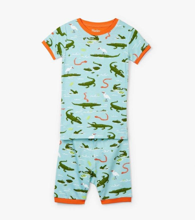 Hatley Short PJs - Swamp Gators
