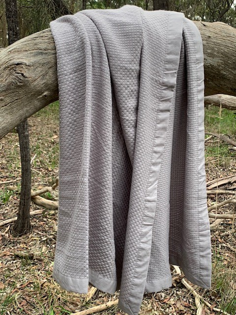 Pre-order (due late August) - Save Our Sleep Cot Bamboo Heirloom Blanket - (*95% Organic Bamboo) - Silver - Grey