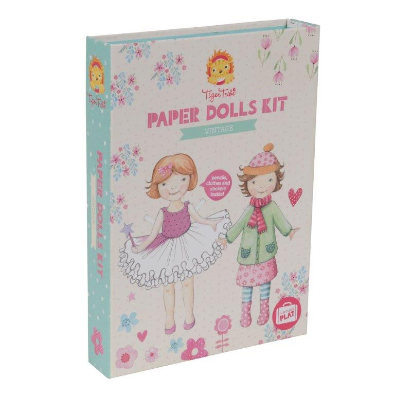 Tiger Tribe - Paper Dolls Kit - Vintage