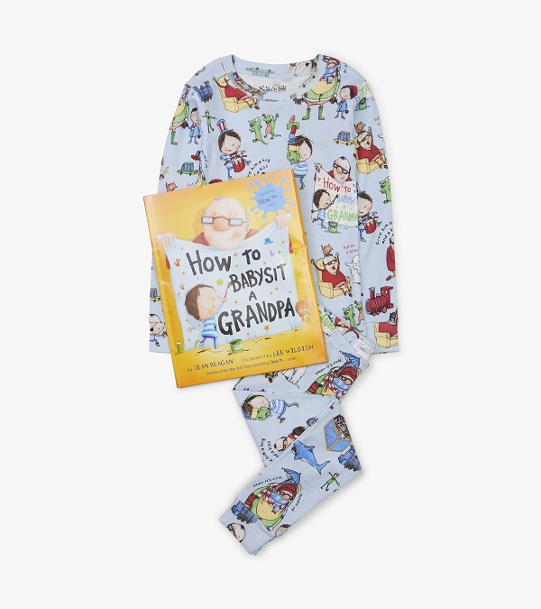 Hatley Organic Books to Bed -  How to Babysit Grandpa