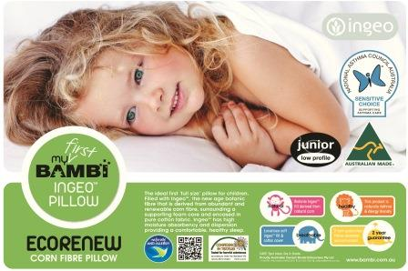 Bambi Ecorenew Junior Pillow 5+ Years With Bambi Cottina Pillow Protector Pack